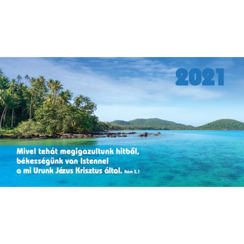 Zsebnaptár 2021 (7/7) – tenger (Mivel tehát megigazultunk hitből..)