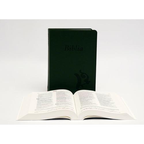 Biblia - Középméretű, varrott kiállítású, sötétzöld