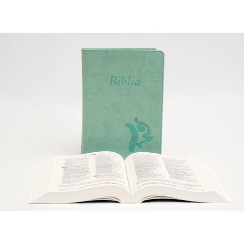 Biblia - Középméretű, varrott kiállítású, olívazöld