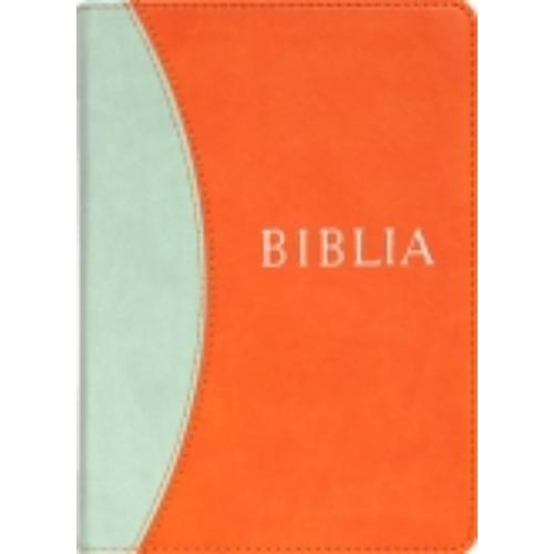 Biblia, revideált új fordítás, puhatáblás, varrott (narancs)