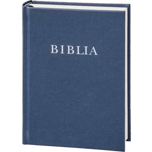 Biblia, revideált új fordítás, középméretű vászonkötésű kék