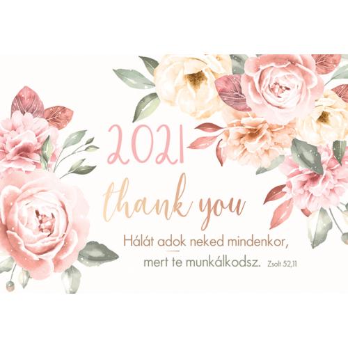 Kártyanaptár 2021 (3) Hálát adok neked mindenkor…