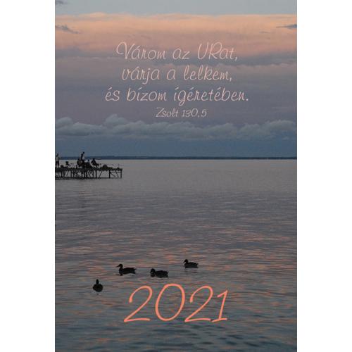 Kártyanaptár 2021 (10) Várom az Urat, várja a lelkem…