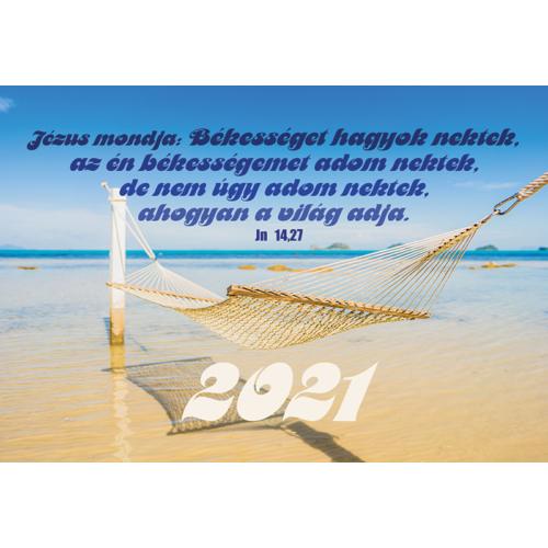 Kártyanaptár 2021 (12) Jézus mondja:Békességet hagyok…