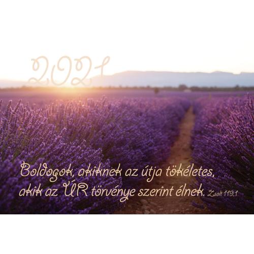 Kártyanaptár 2021 (13) Boldogok, akiknek az útja tökéletes…